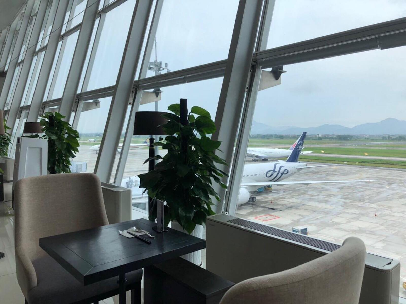 View of Sông Hồng Business Lounge, Noi Bai International Airport