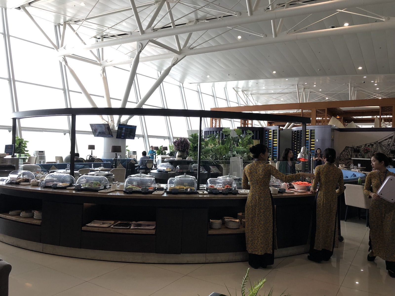Dining choose at Sông Hồng Business Lounge, Noi Bai International Airport