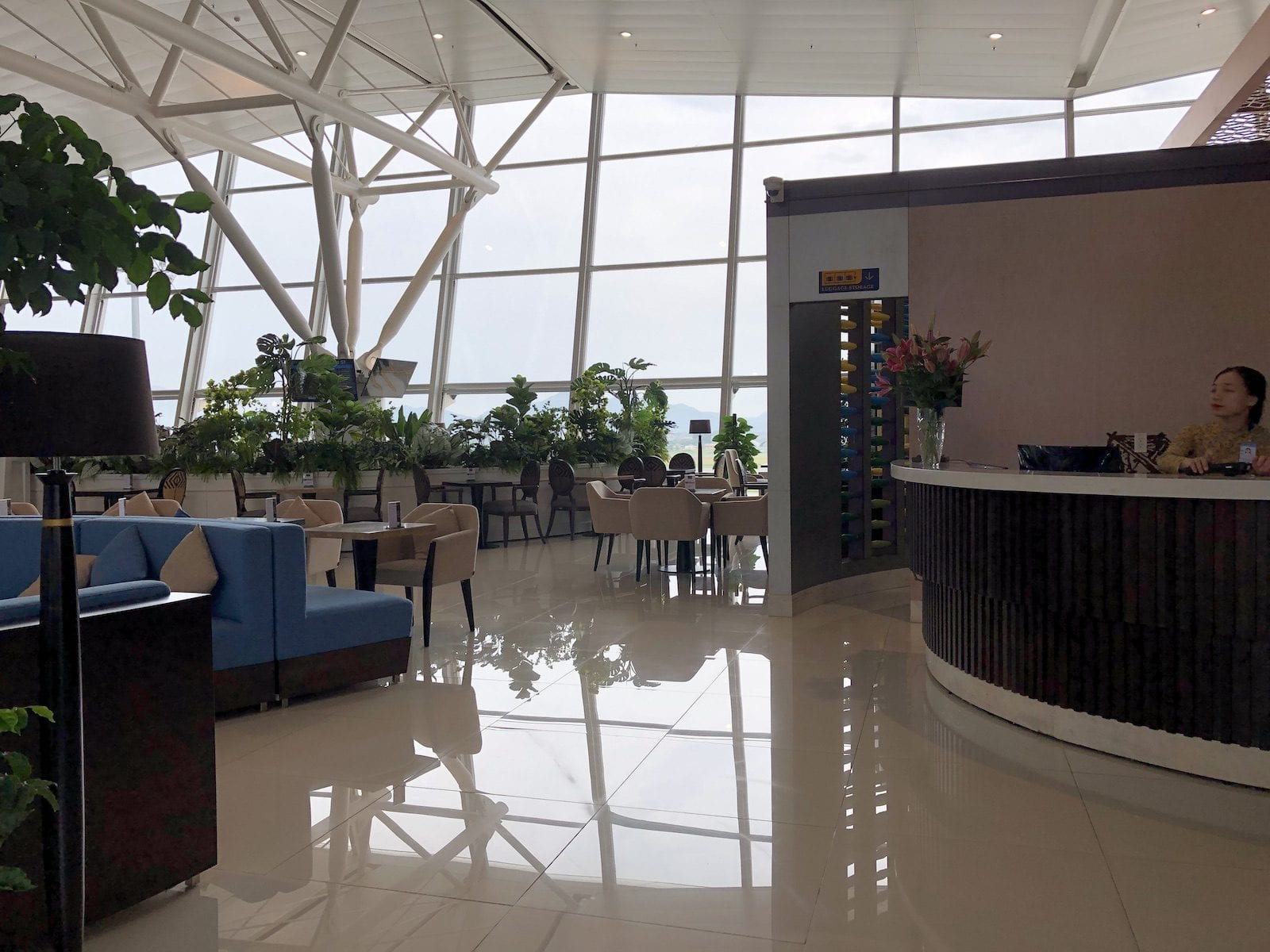 Interior of Sông Hồng Business Lounge, Noi Bai International Airport