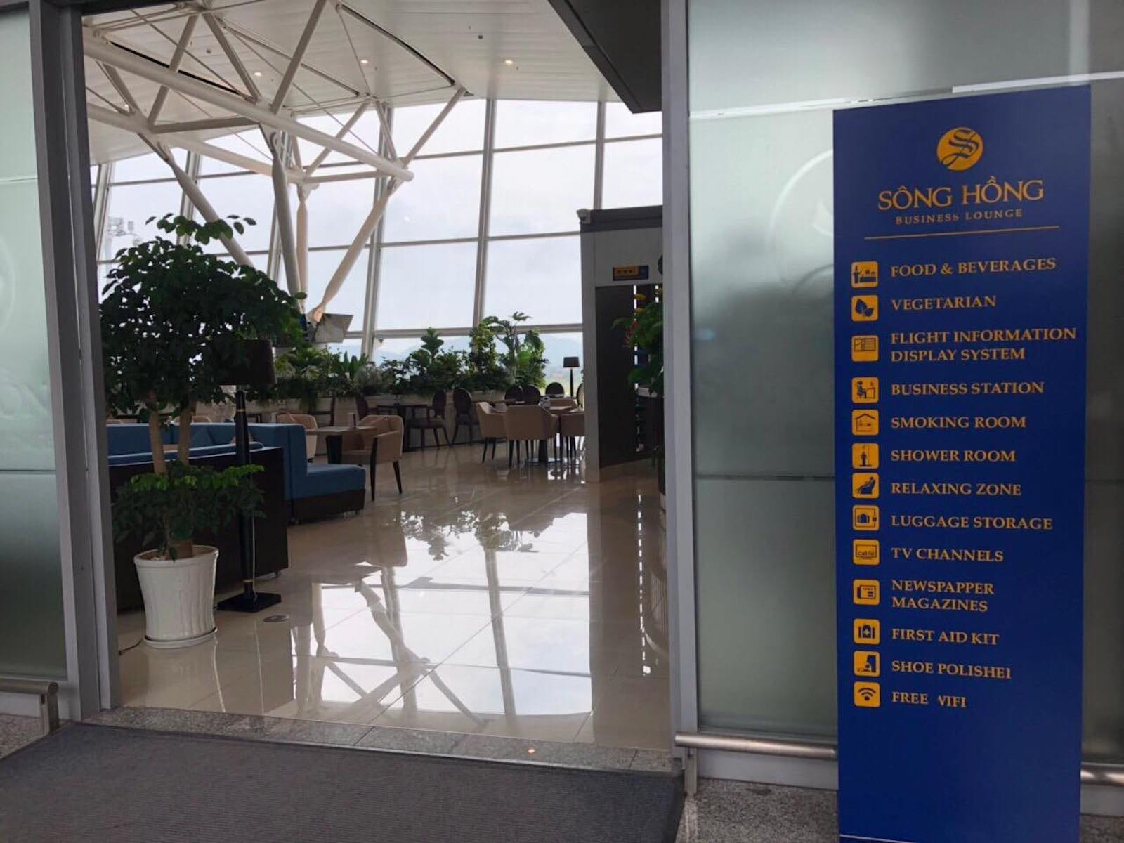 Entrance to Sông Hồng Business Lounge, Noi Bai International Airport