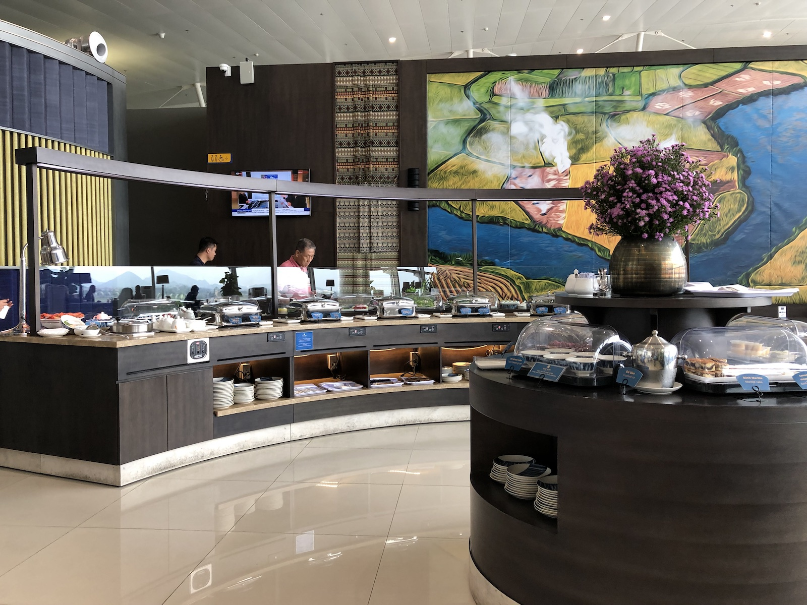 Song Hong Business Lounge Hanoi Airport Food Buffet