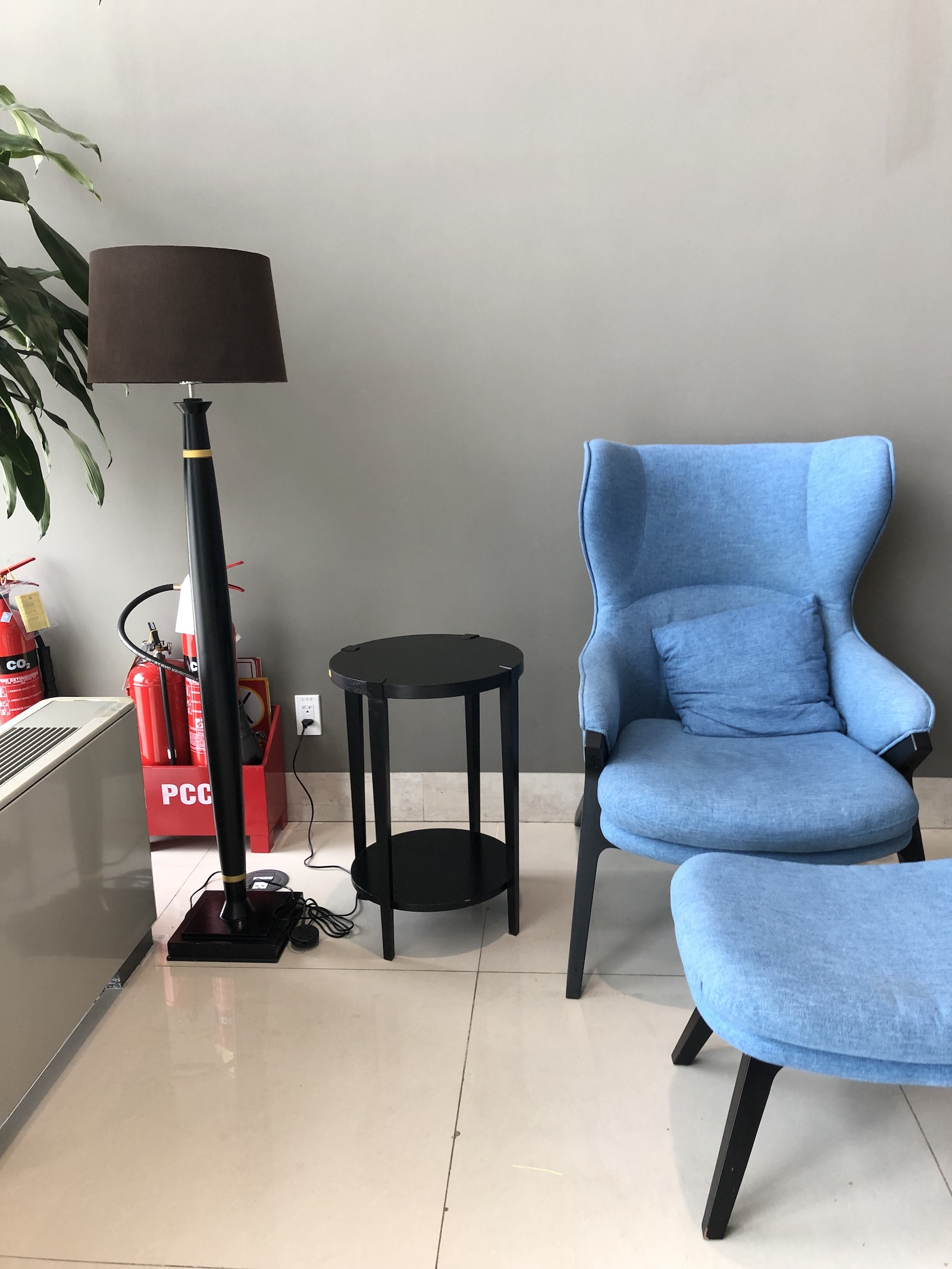 Song Hong Business Lounge Hanoi Airport Blue Chair