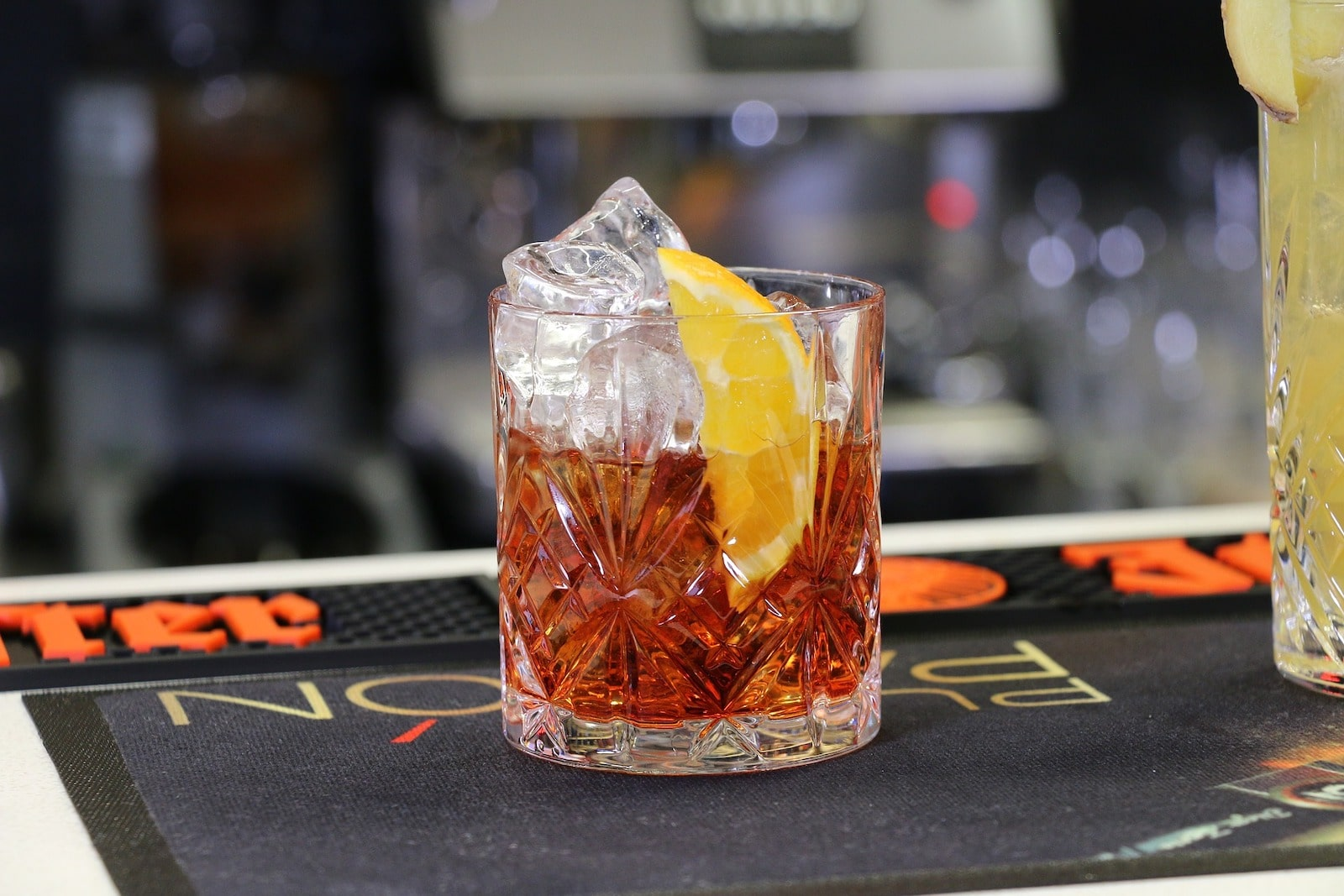 Negroni Italian Cocktail with Rum