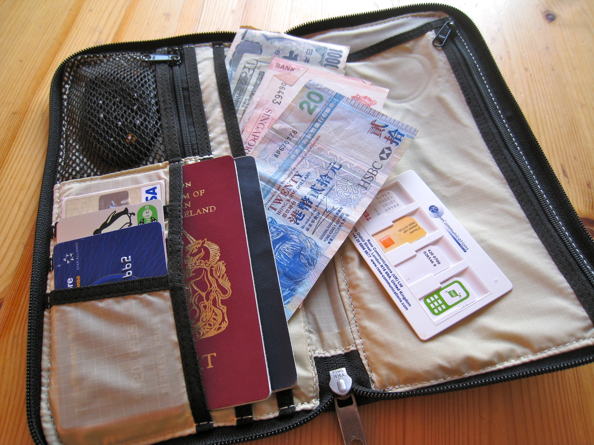 Save Money on Travel Wallet Cash Passport