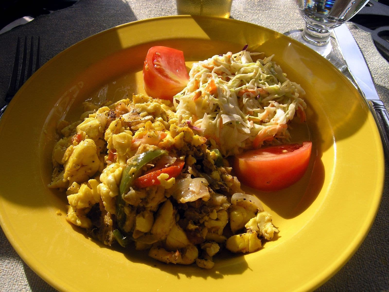 Ackee and codfish, Jamaica