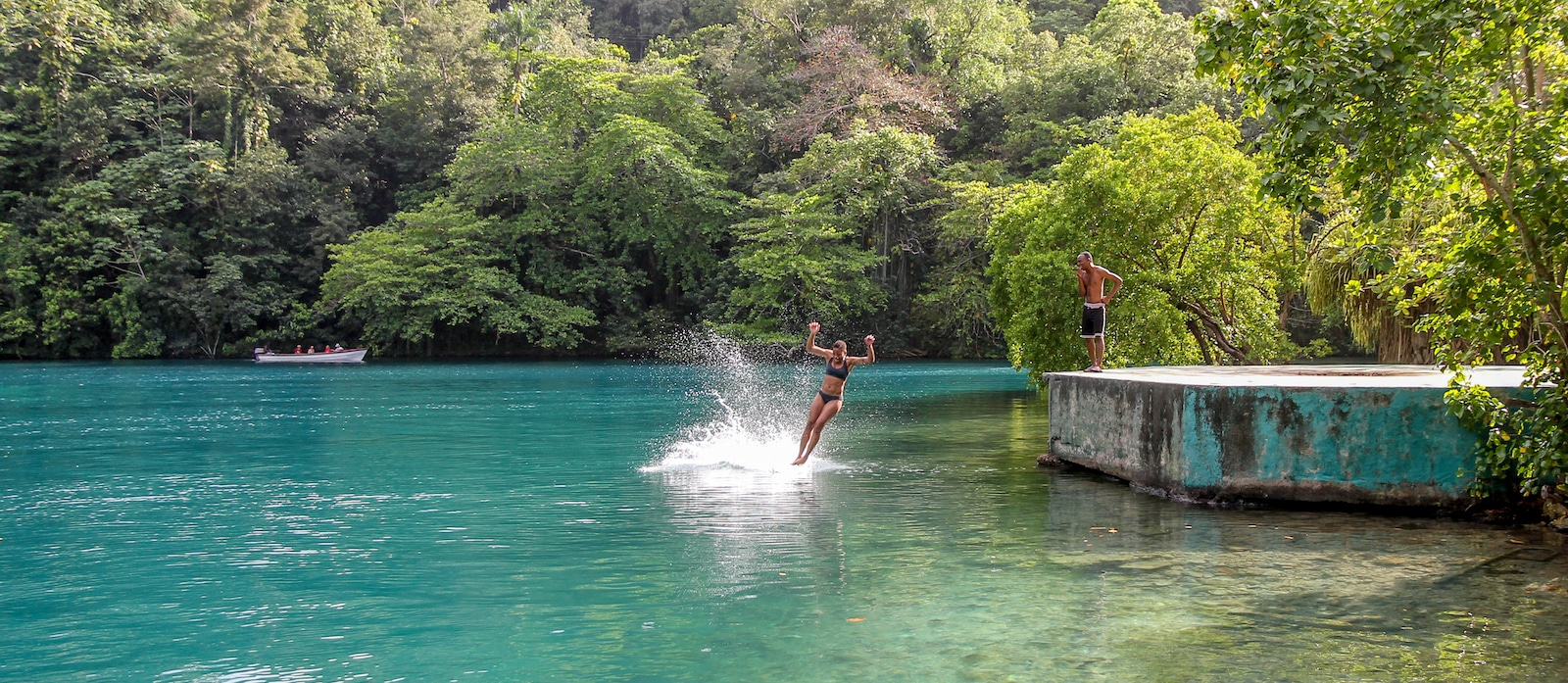 Blue Lagoon in Port Antonio, Jamaica