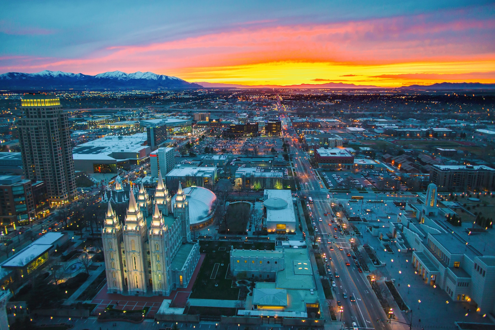 Date Night Sunset Overlooking Salt Lake City Utah