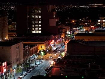 Albuquerque NM Date Ideas Central Avenue at Night