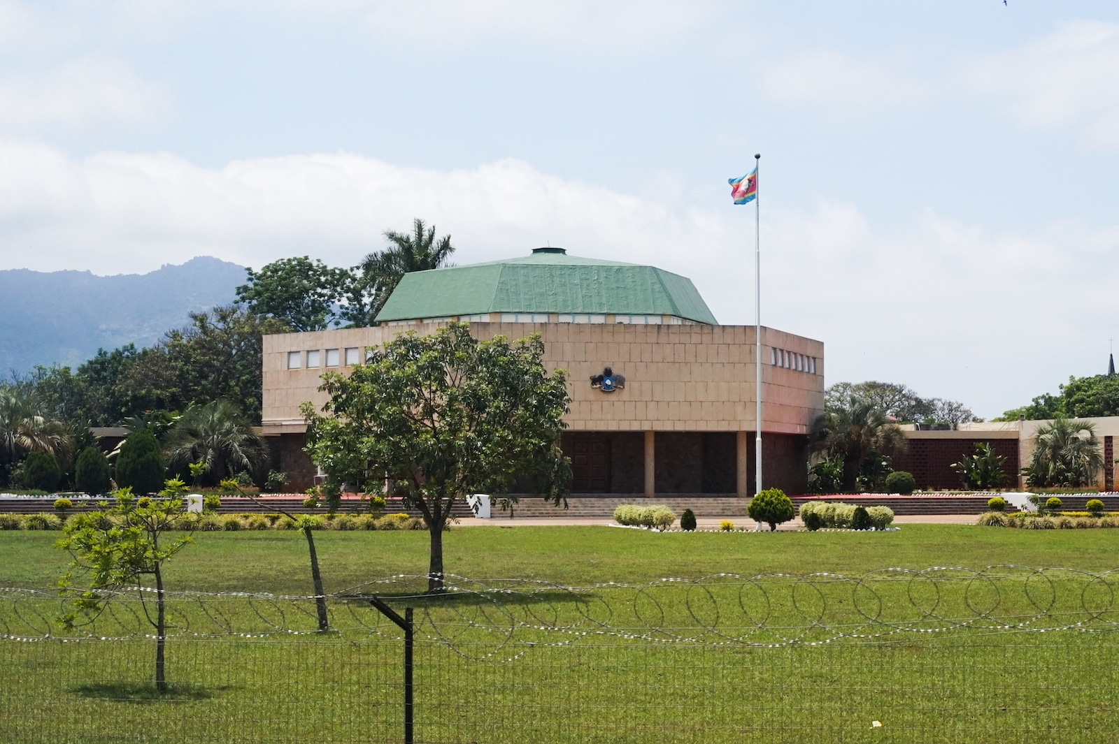 Parliament building in Lobamba of Eswatin