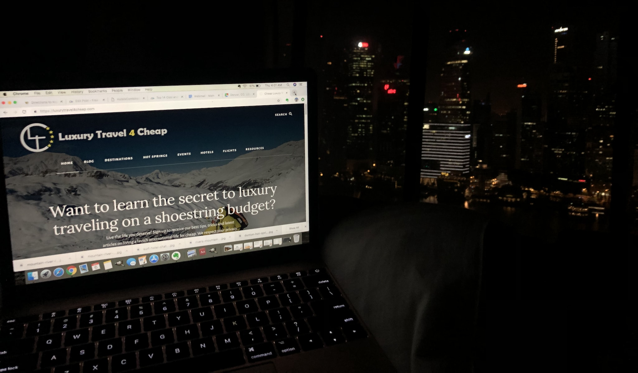 Luxury Travel 4 Cheap Website Working at Singapore Marina Bay Sands Room