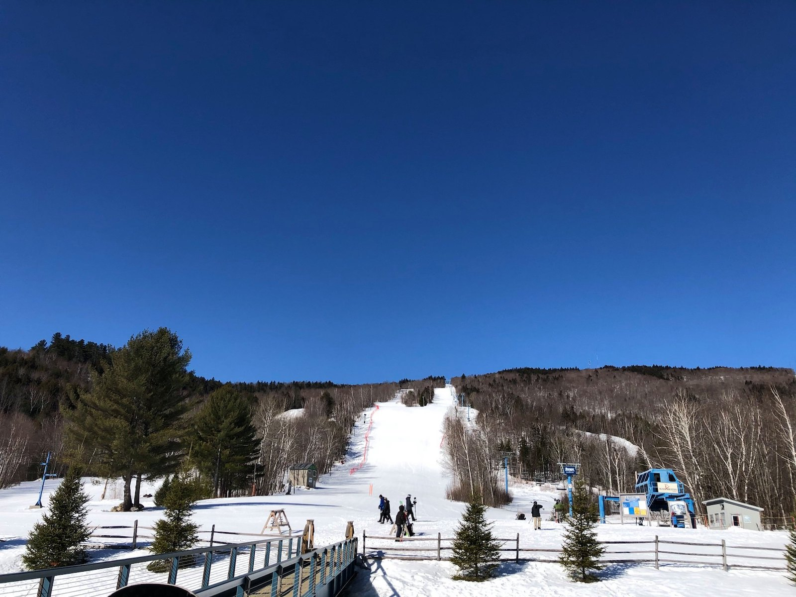 Image of the open slopes at Black Mountain Ski Area in Maine