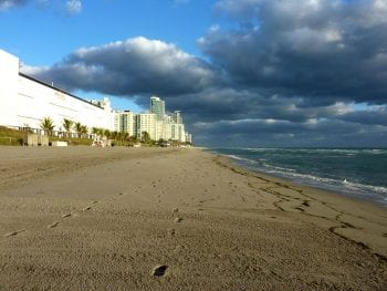 Hallandale Beach in Fort Lauderdale, Florida