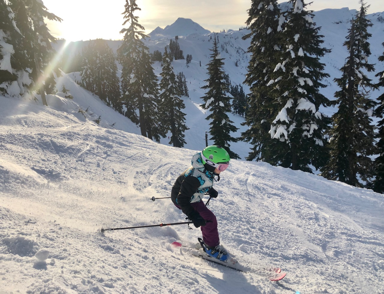 Image of a young skier at Mt. Baker Ski Area in Canada