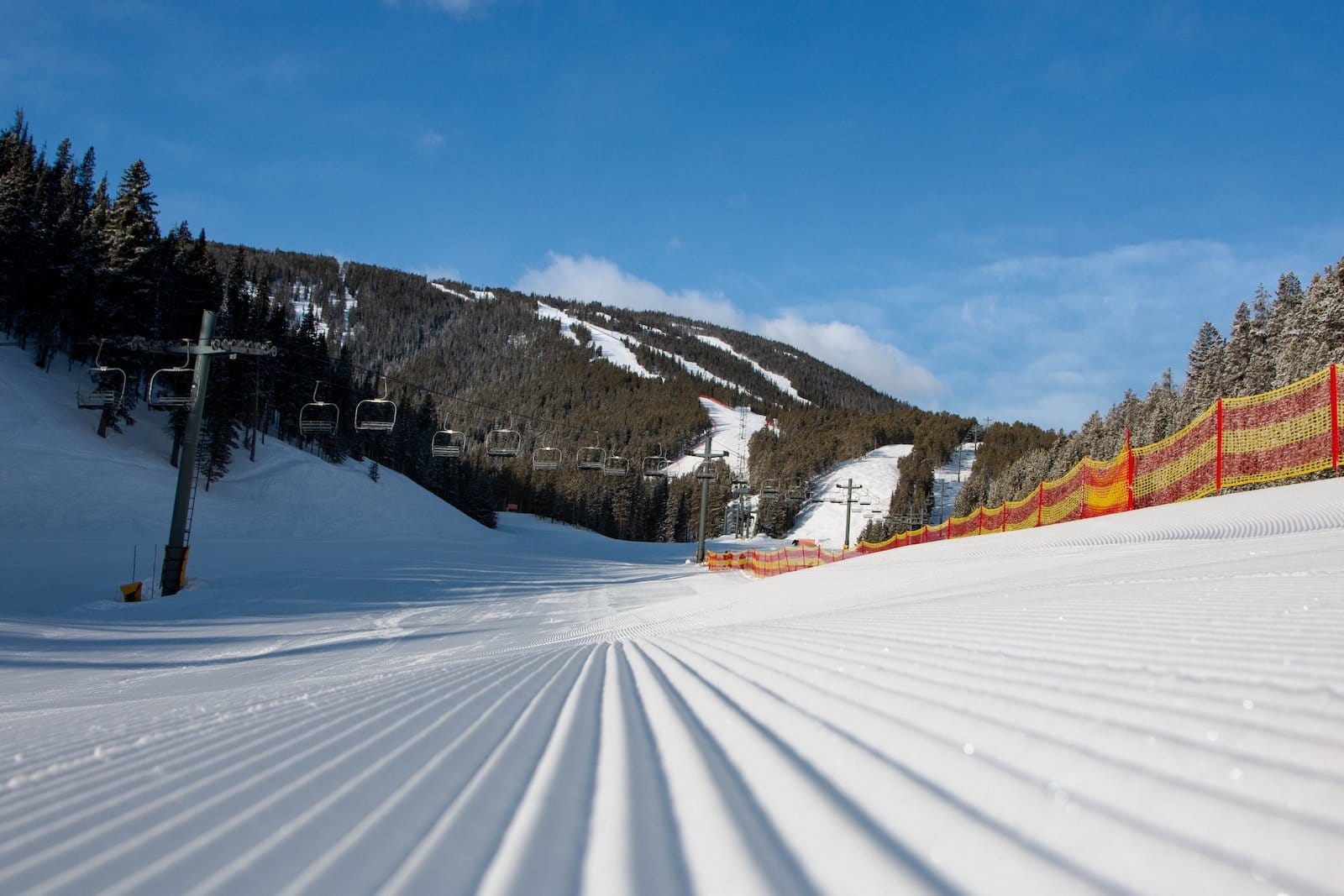 Image of empty, pristine slopes at Red Lodge Mountain Resort in Montana