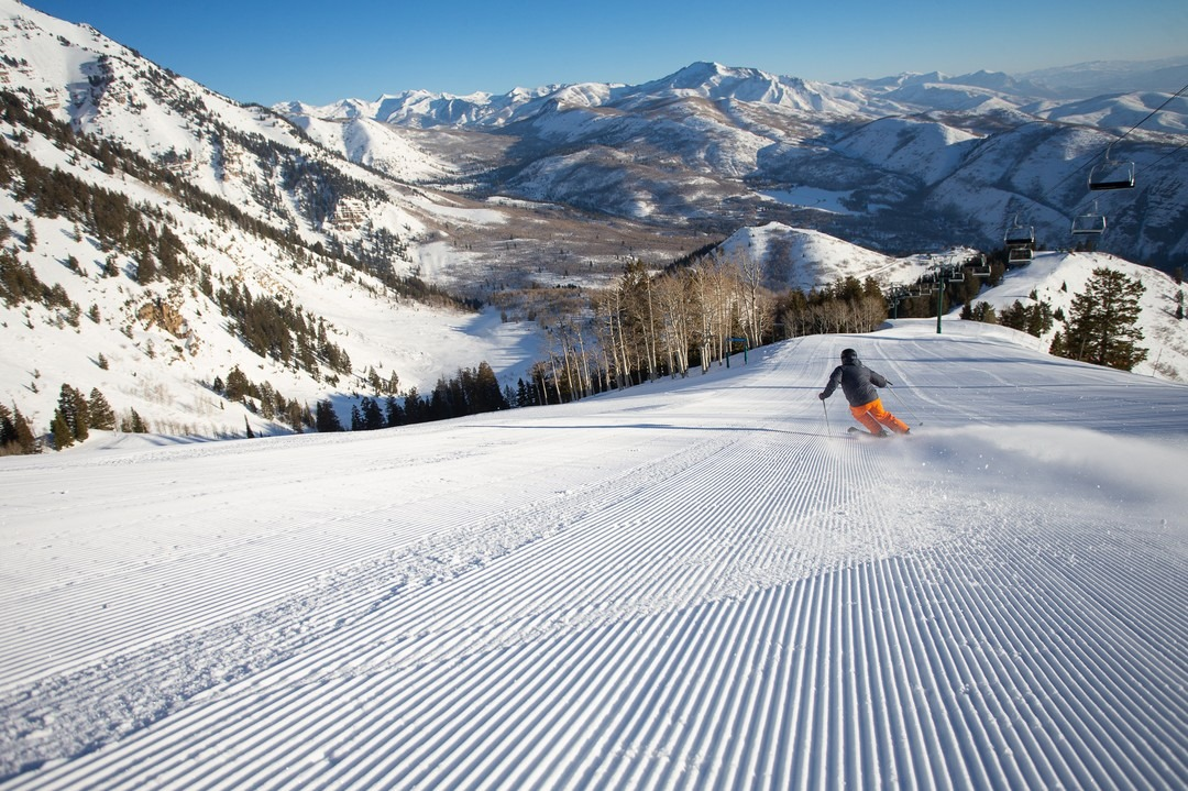 Image of a skier at Sundance Mountain Resort in Utah