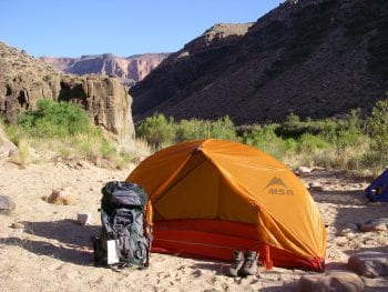 Arizona Camping in Grand Canyon by Colorado River
