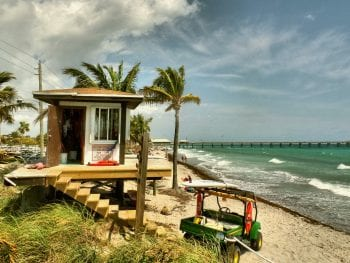 Dania Beach Florida Lifeguard Station
