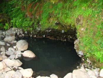 Image of deer creek hot springs in blue river, oregon