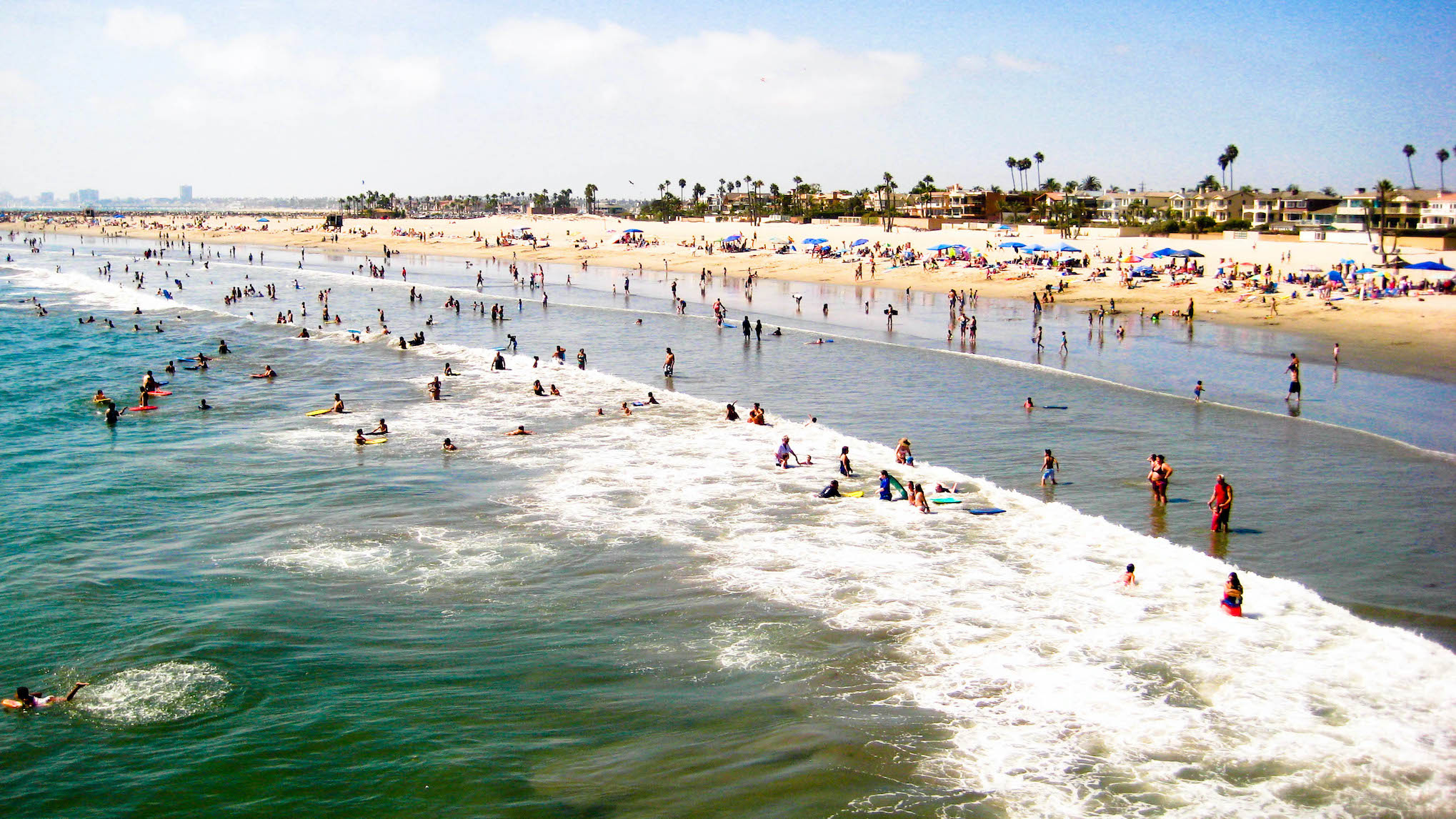 Seal Beach California Crowded Beach