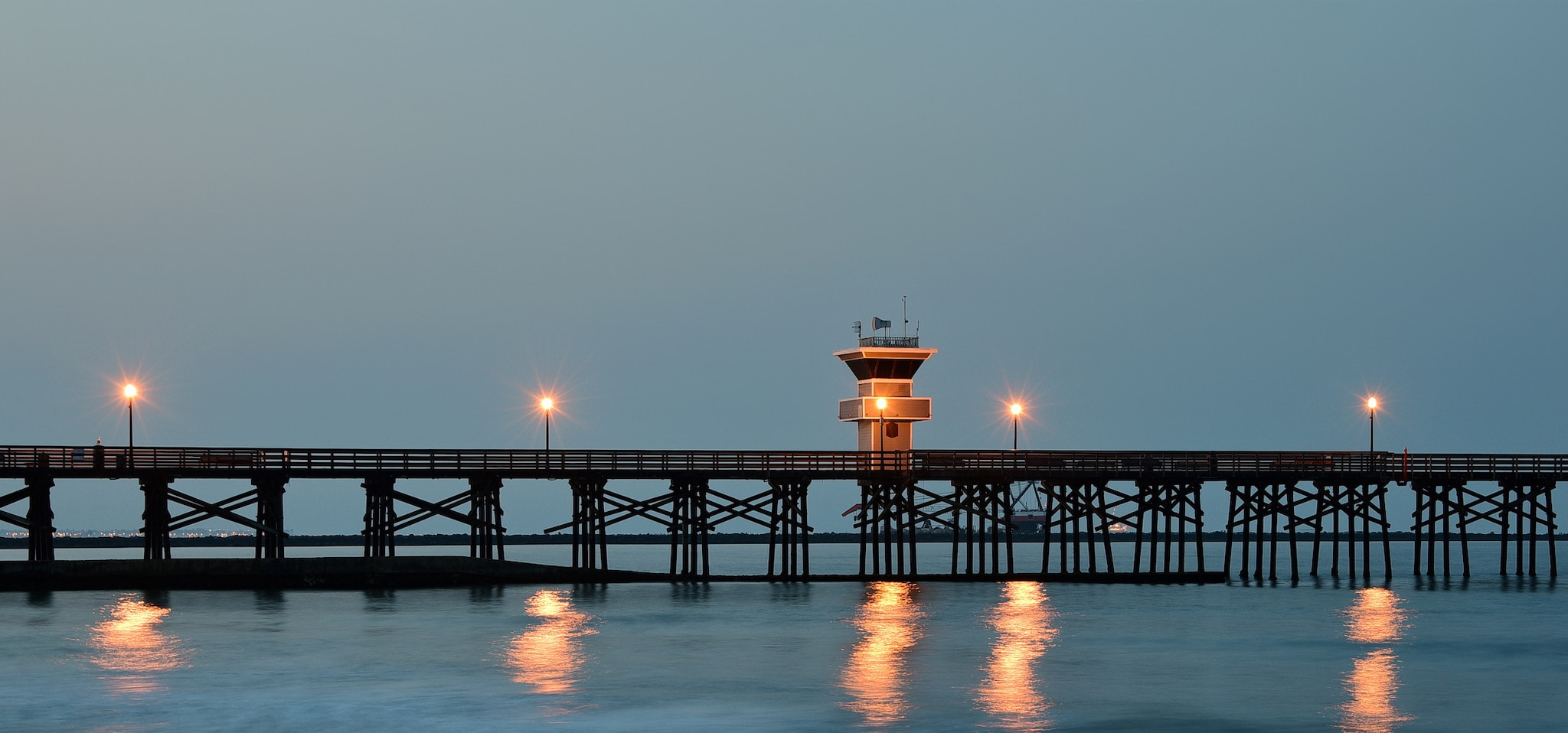 Seal Beach Pier California at Dawn