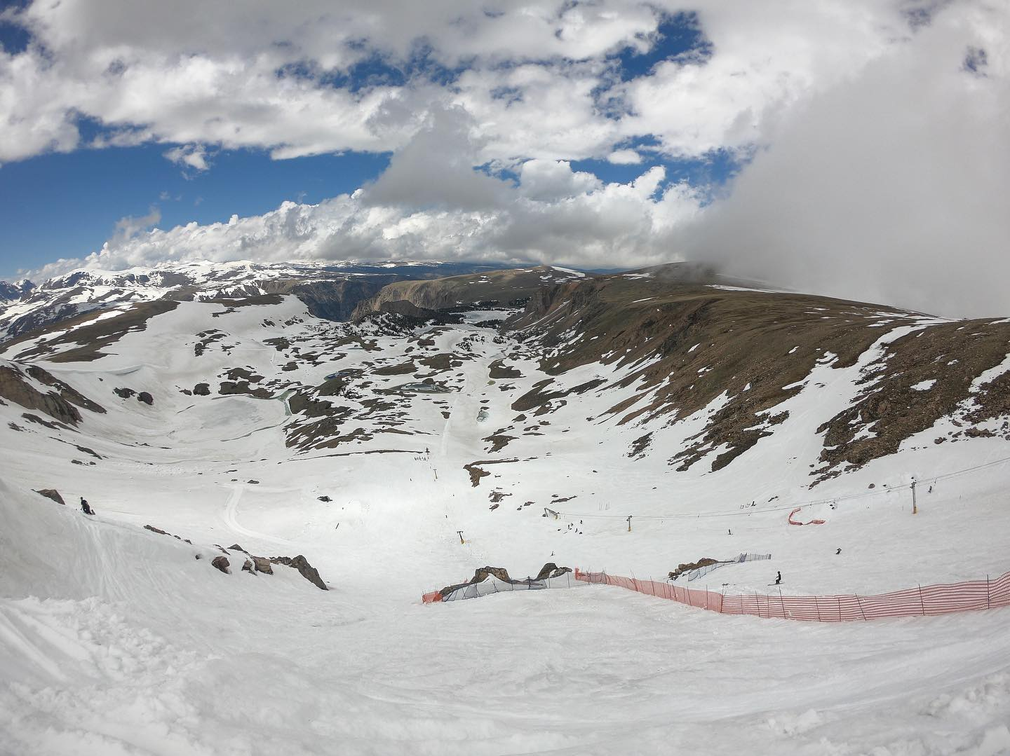 Image of the steep incline at Beartooth Basin Summer Ski in Wyoming
