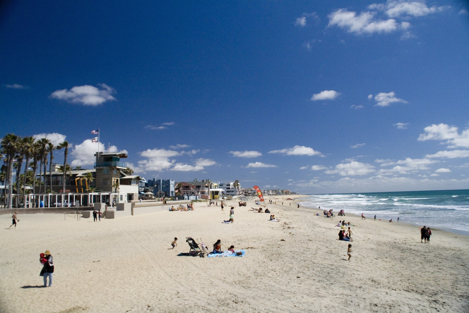image of beachgoers at Imperial Beach, San Diego