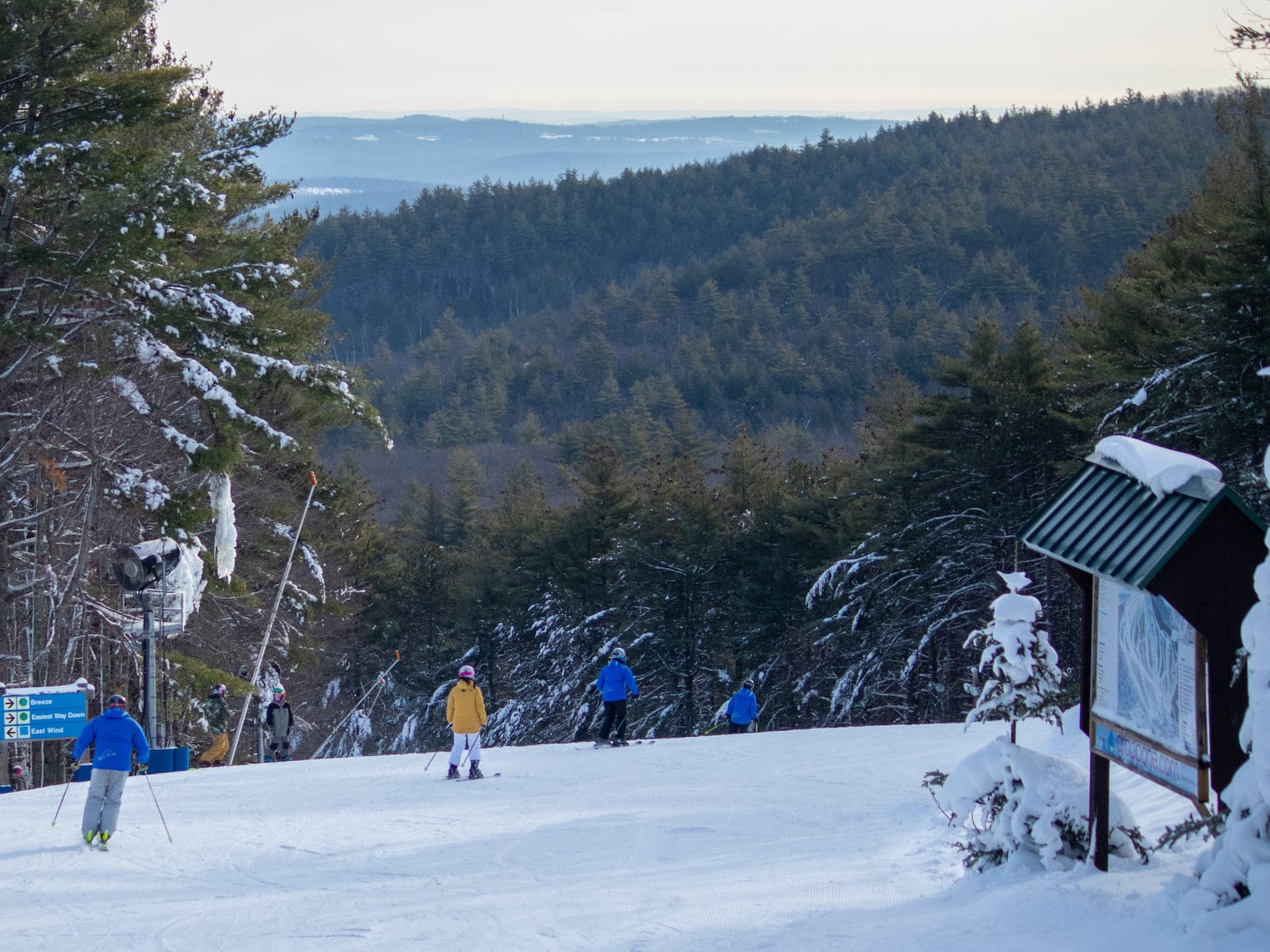 Image of skiers at Pat's Peak Ski Area in New Hampshire