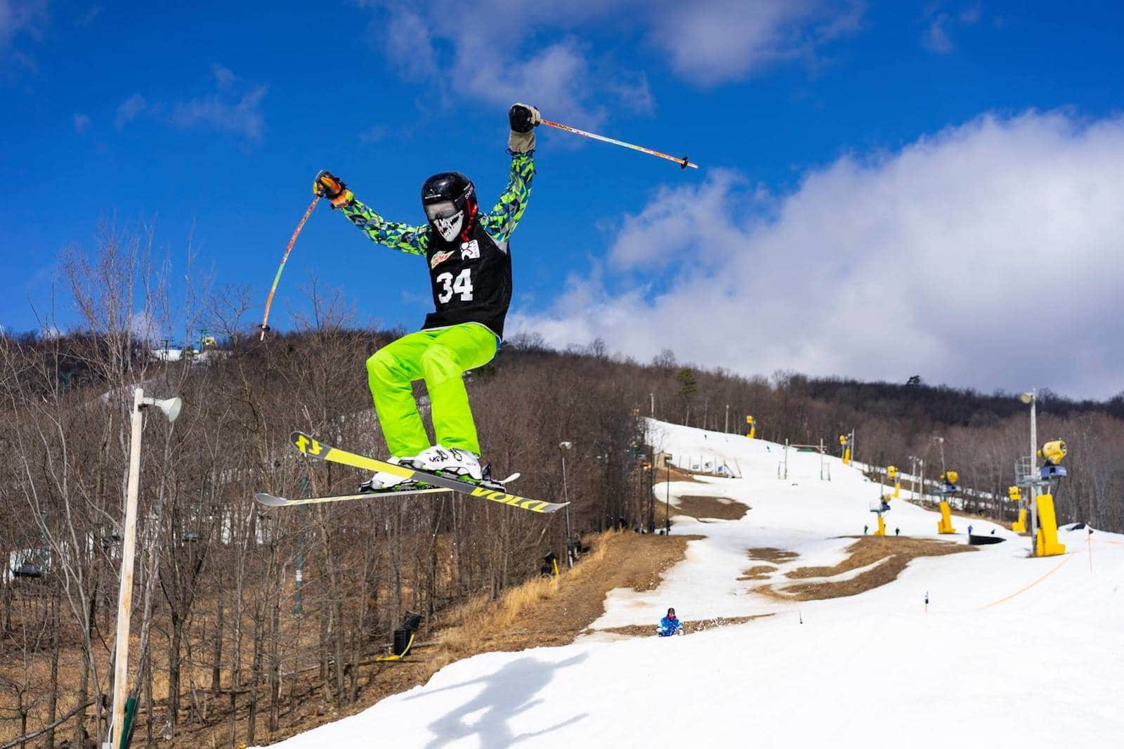 Image of a skier in neon at Whitetail Resort