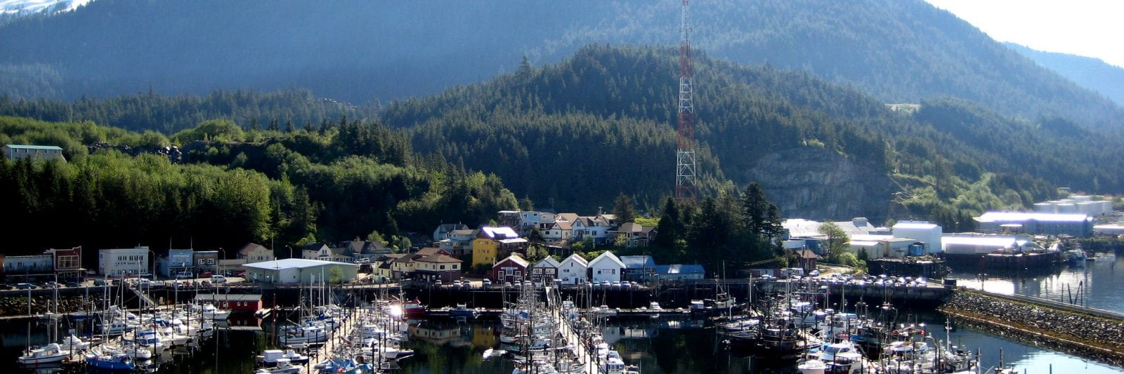 Image of the Ketchikan Port in Alaska, home to the Shelokum Hot Springs