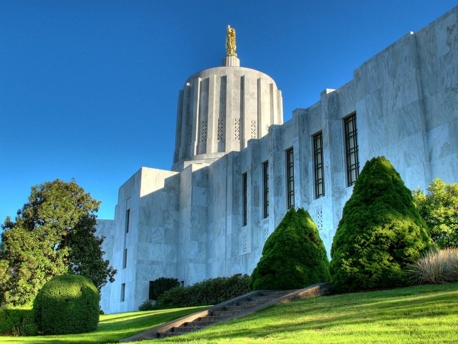 Oregon State Capitol building in Salem